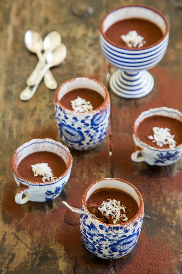 מוס שוקולד טבעוני