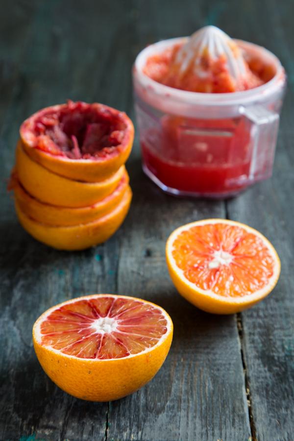 עוגת תפוזי דם ומי ורדים